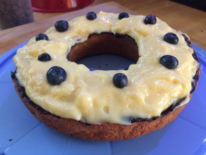 Heidelbeer-Pudding-Kuchen im Omnia gebacken